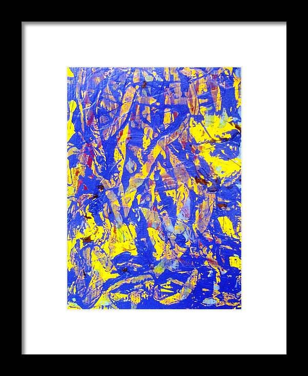 Abstract Framed Print featuring the painting When A Tree Falls Alone In A Forest 2 by Bruce Combs - REACH BEYOND