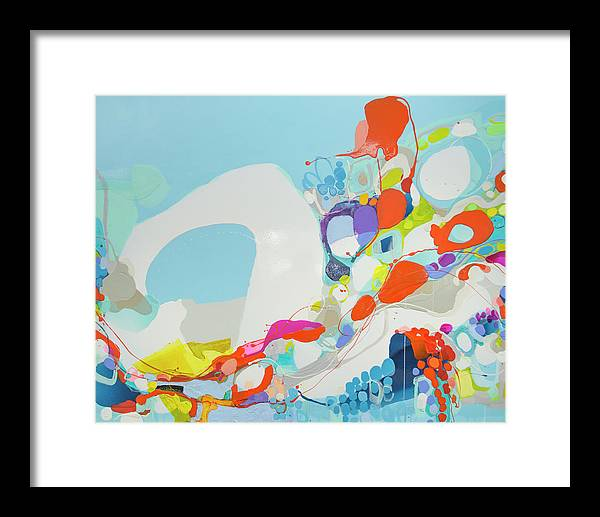 Abstract Framed Print featuring the painting When Alexa Moved In by Claire Desjardins