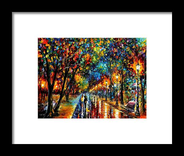 Landscape Framed Print featuring the painting When Dreams Come True by Leonid Afremov