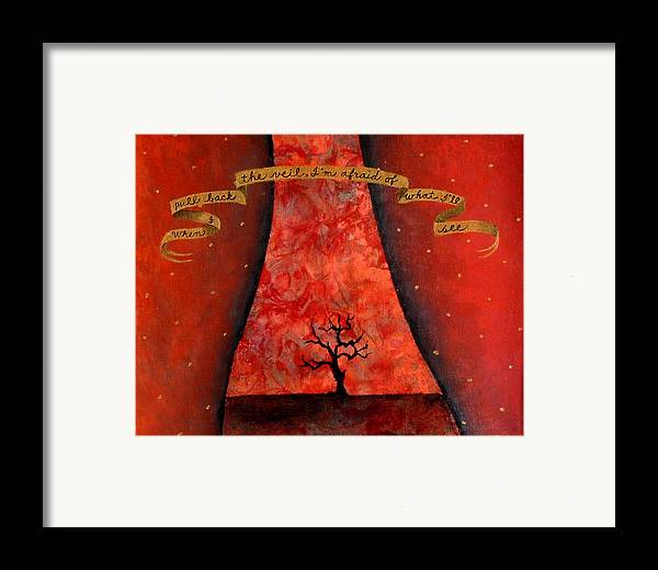 Landscape Framed Print featuring the painting When I Pull Back The Veil by Pauline Lim