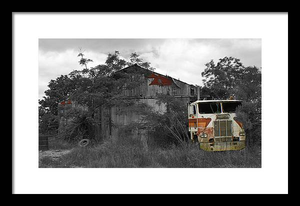 Truck Framed Print featuring the photograph When Nature And Machines Collide by Greg Sharpe
