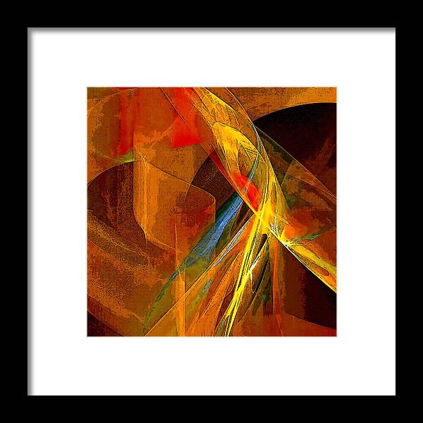 Abstract Framed Print featuring the digital art When Paths Cross by Ruth Palmer