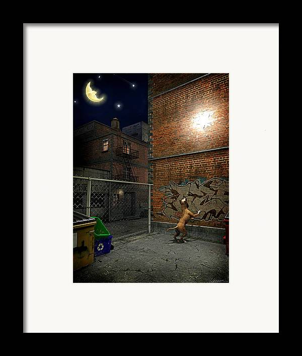 City Framed Print featuring the digital art When Stars Fall In The City by Cynthia Decker