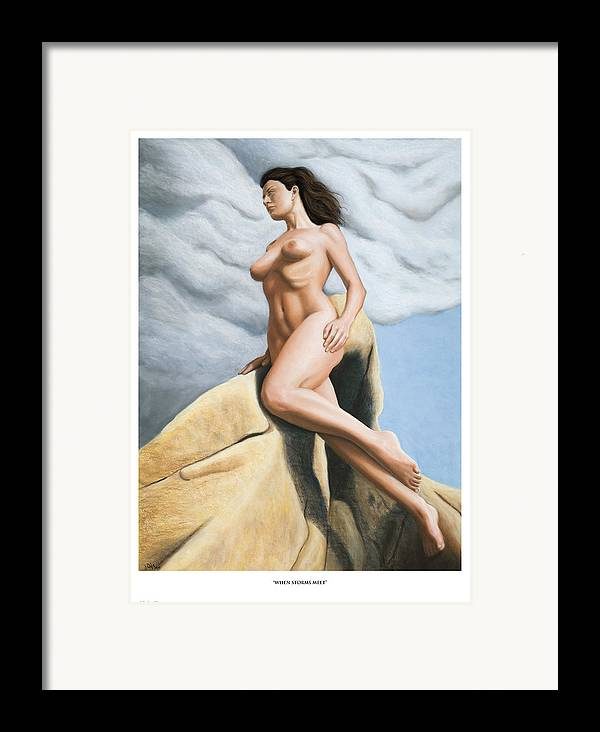 Joe Ogle Framed Print featuring the painting When Storms Meet Prints Only by Joseph Ogle