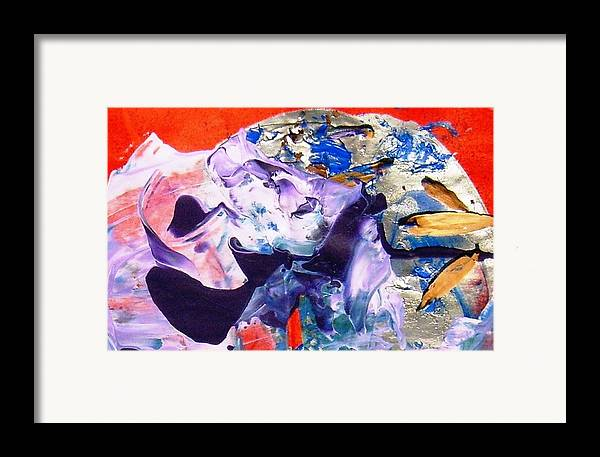 Whale Framed Print featuring the painting When The Oceans Again Possss The Earth by Bruce Combs - REACH BEYOND