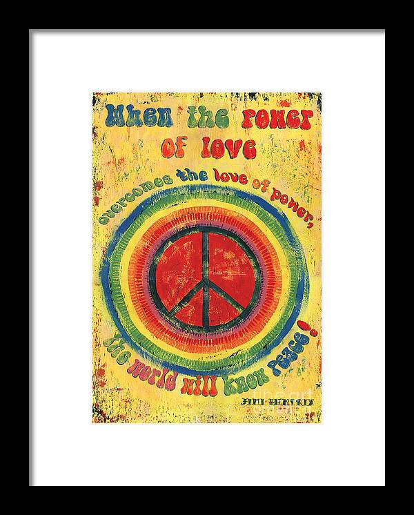 Love Framed Print featuring the painting When the Power of Love by Debbie DeWitt