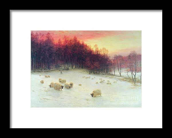 Forest Framed Print featuring the painting When the West with Evening Glows by Joseph Farquharson
