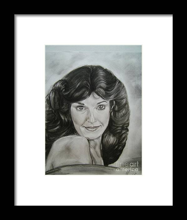 Self Portrait Framed Print featuring the drawing When The World Was Young by Paula Thompson
