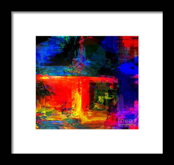 Fania Simon Framed Print featuring the digital art When Water Will Not Stop by Fania Simon