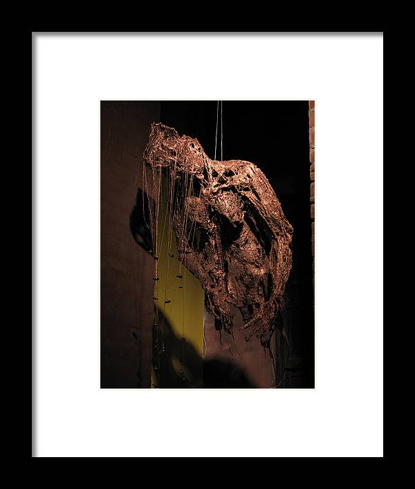 Figurative Sculpture Framed Print featuring the sculpture When Will He Come Home by Kyle Ethan Fischer