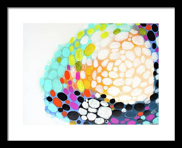 Abstract Framed Print featuring the painting When You Get Home by Claire Desjardins