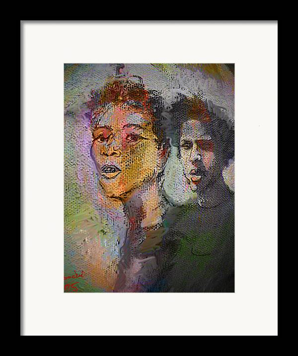 Human Composition Framed Print featuring the painting Where Are We Going by Noredin