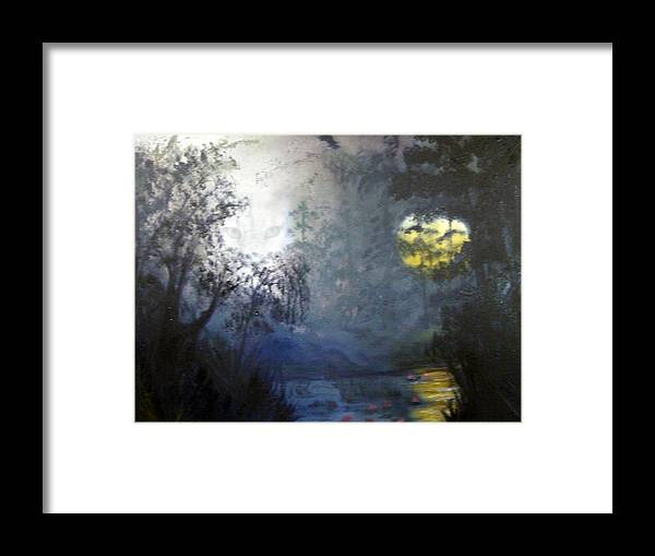 Swamp Framed Print featuring the painting Where Are We To Go by Darlene Green