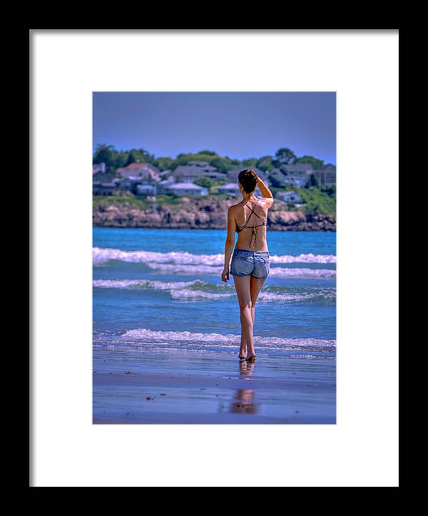Woman Framed Print featuring the photograph Where Are You by Ron Christie