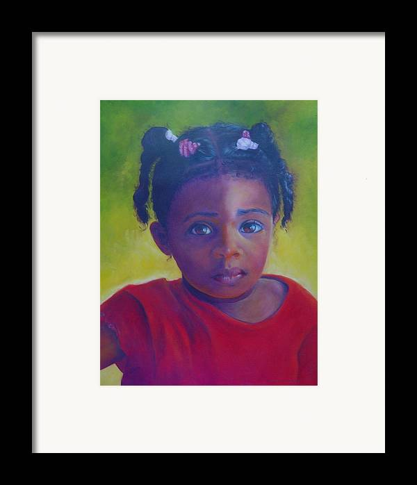 Child Framed Print featuring the painting Where Is My Mommy by Merle Blair