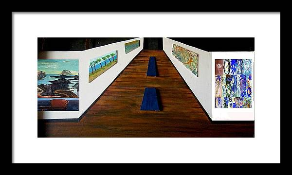 Gallery Framed Print featuring the painting Where is the restroom by Richard Hubal