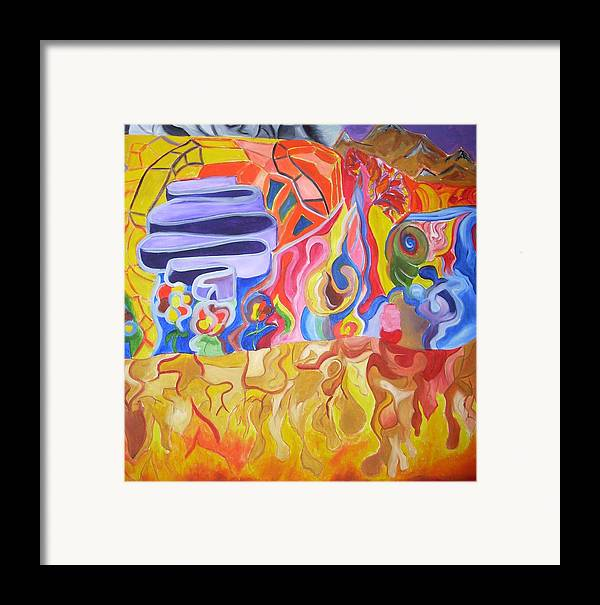 Framed Print featuring the painting Where by Joseph Arico