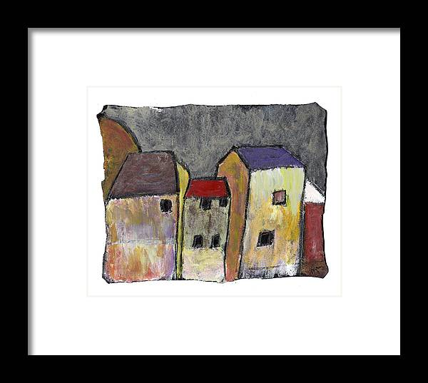 Buildings Framed Print featuring the painting Where Once There Was by Wayne Potrafka