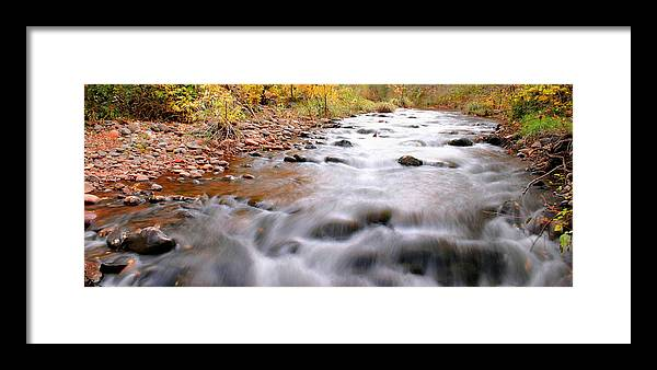 River Framed Print featuring the photograph Where Peaceful Waters Flow by Kristin Elmquist