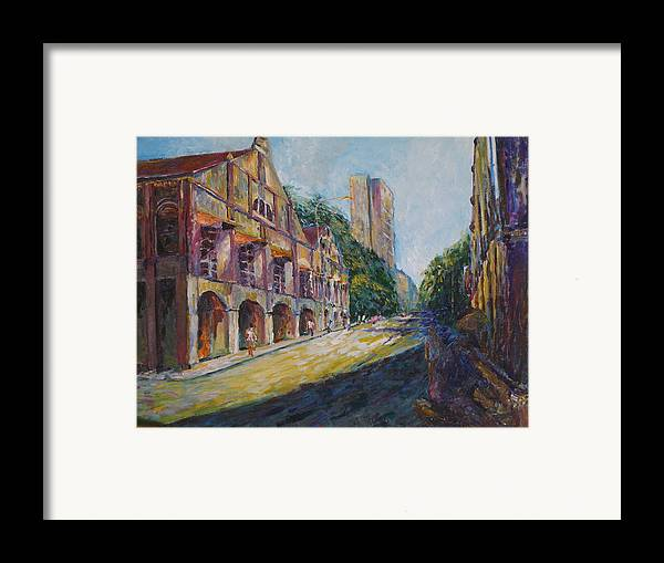 Buidlings Framed Print featuring the painting Where The Journey Began by Wendy Chua