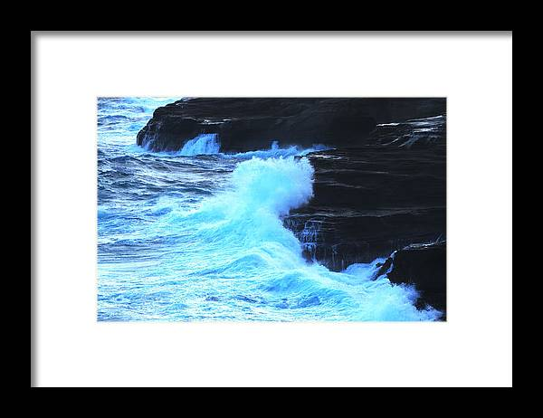 Ocean Framed Print featuring the photograph Where The Land Meets The Ocean by Richard Henne