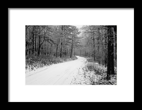Winter Framed Print featuring the photograph Where Will It Lead by Jean Macaluso