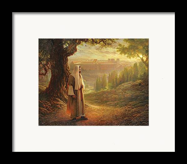 Jesus Framed Print featuring the painting Wherever He Leads Me by Greg Olsen