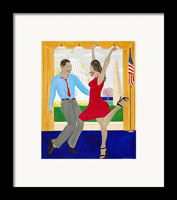 Animals Framed Print featuring the painting While America Withers by Sal Marino