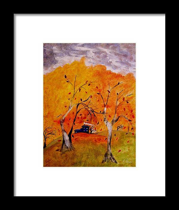 Abstract Framed Print featuring the painting Whimsical Wind by Ruth Palmer