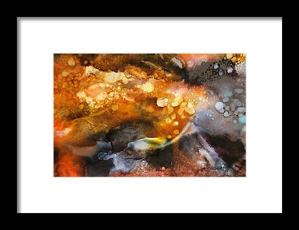 Abstract Framed Print featuring the painting Whirling Whisper - A - by Sandy Sandy