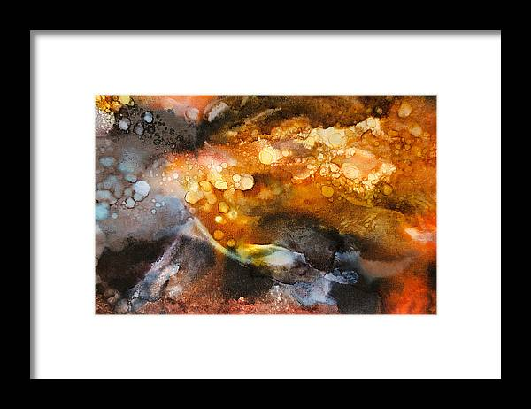 Abstract Framed Print featuring the painting Whirling Whisper - C - by Sandy Sandy