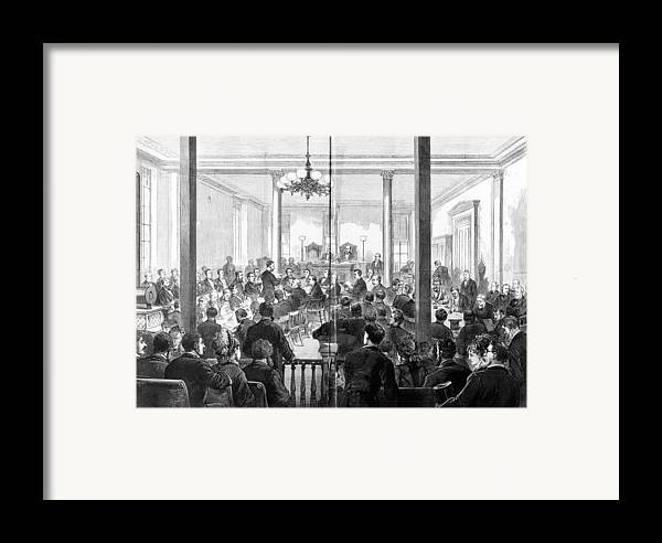 1876 Framed Print featuring the photograph Whiskey Ring Trial, 1876 by Granger