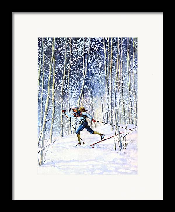 Sports Artist Framed Print featuring the painting Whispering Tracks by Hanne Lore Koehler