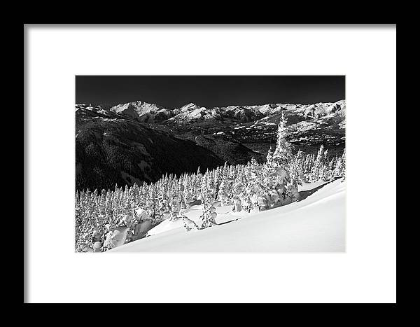 Whistler Framed Print featuring the photograph Whistler Mountain Winter Scenery by Pierre Leclerc Photography