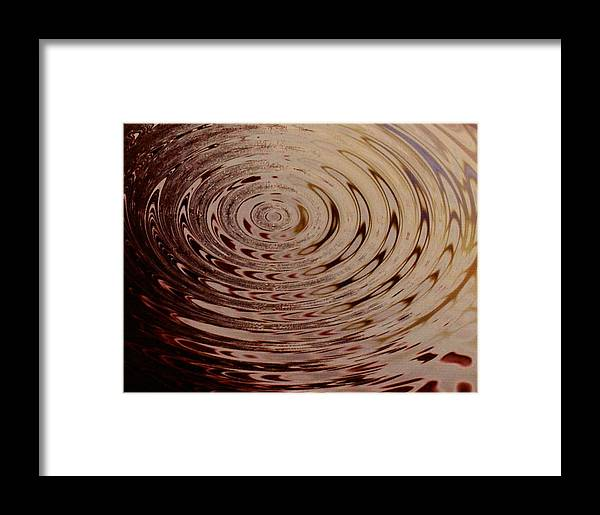 Abstract Framed Print featuring the photograph White Circle by Lorenzo Roberts