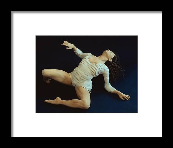 Dance Framed Print featuring the sculpture White Dancer Left View by Gordon Becker
