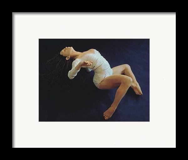Dance Framed Print featuring the sculpture White Dancer Right View by Gordon Becker