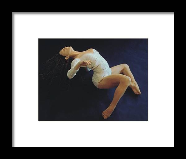 Dance Framed Print featuring the sculpture White Dancer Right View by Gordon Becker