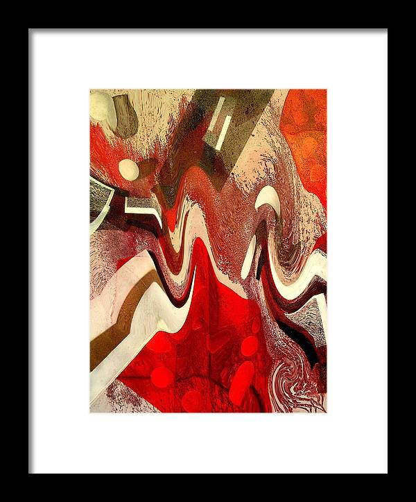 Framed Print featuring the print White Dots Digital Transformation by Evguenia Men