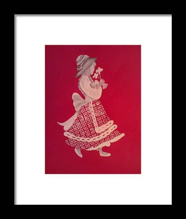 Girl Framed Print featuring the painting White Girl by Samar Abdelmonem