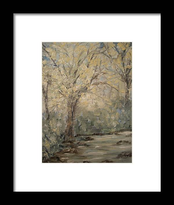 Creek Framed Print featuring the painting White Gold by Carrie Mayotte
