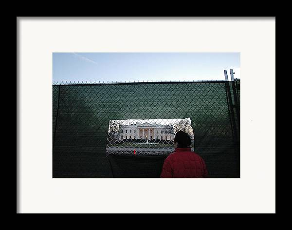 Washington Dc Framed Print featuring the photograph White House Fence Washington Dc by Thomas Michael Corcoran