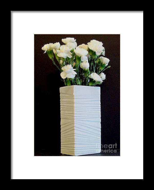 Flowers Framed Print featuring the photograph White In White by Marsha Heiken