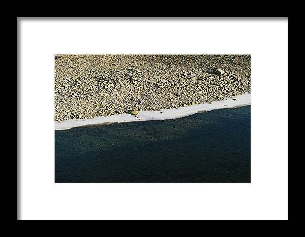 Ice Framed Print featuring the photograph White Line by Lukasz Aschenbrenner