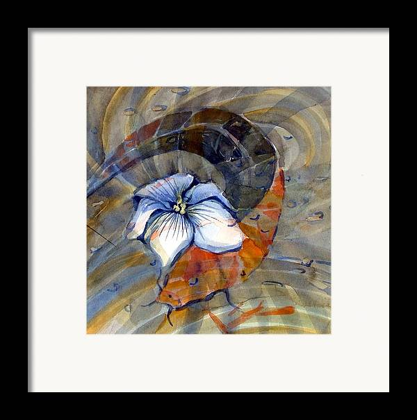 Flower Framed Print featuring the painting White Magnolia by Mindy Newman