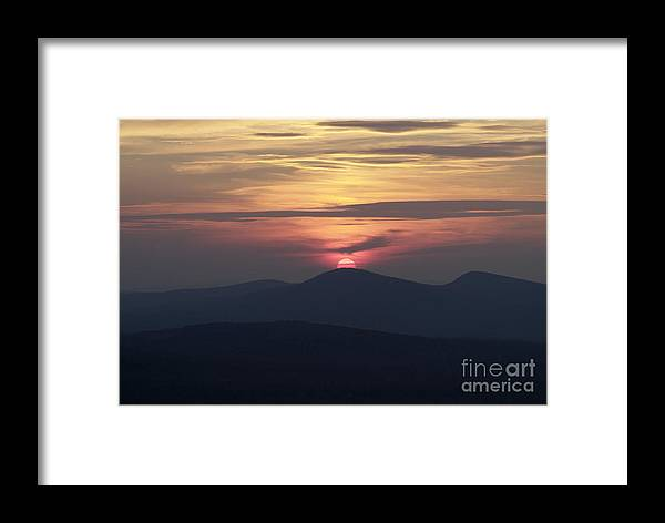 Alpenglow Framed Print featuring the photograph White Mountains Nh - Sunset by Erin Paul Donovan