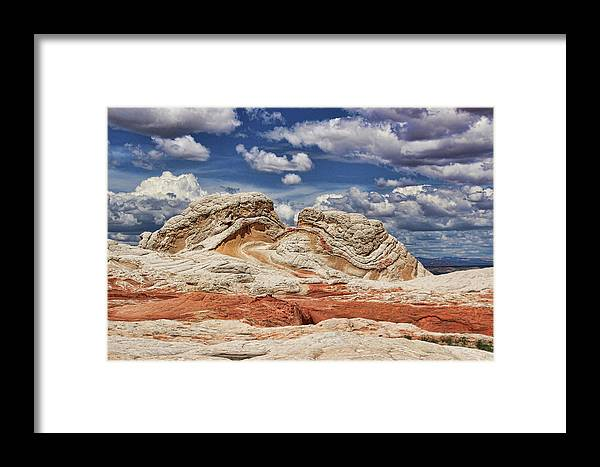 White Pocket Framed Print featuring the photograph White Pocket by Allen Beatty