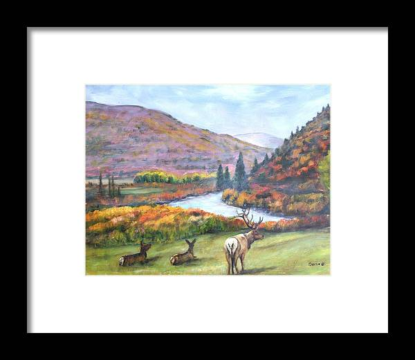Landscape Framed Print featuring the painting White River by Darla Joy Johnson
