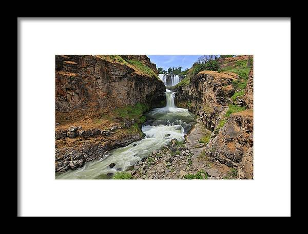Waterfalls Framed Print featuring the photograph White River Falls C by Jesus Maldonado