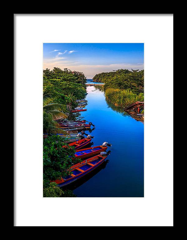 Jamaica Framed Print featuring the photograph White River Jamaica by Lechmoore Simms
